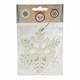 """Украшение елочное подвесное """"Снежинка белая"""", 10,5х10,5 см, пластик"""