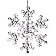 """Украшение елочное подвесное """"Снежинка изящная серебристая"""", 11х11 см, пластик"""