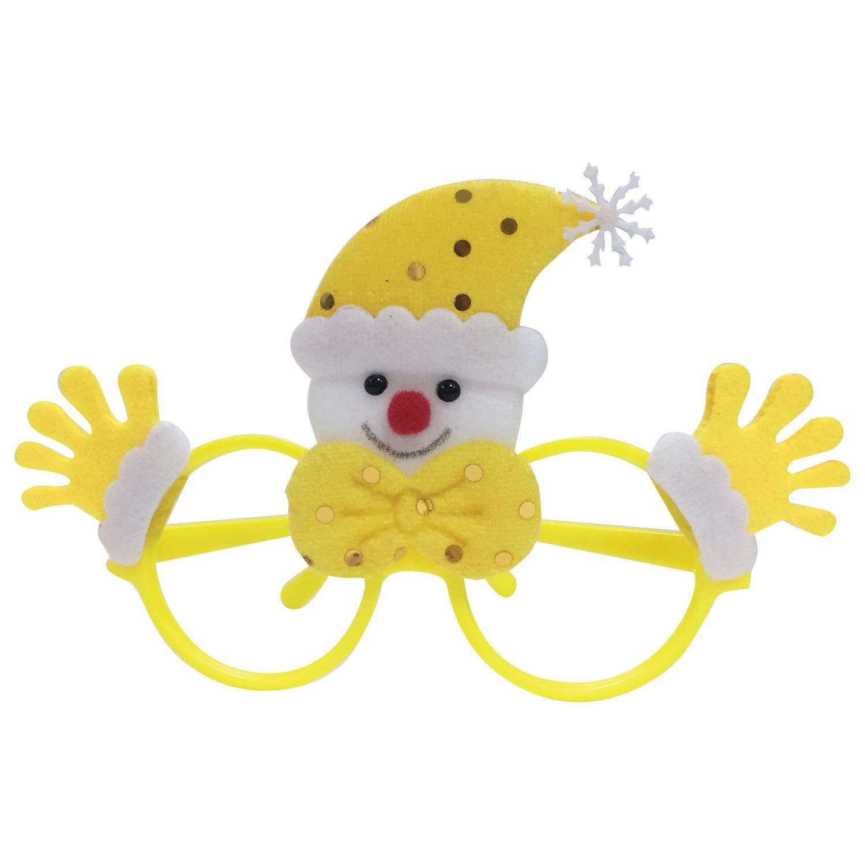 "Очки карнавальные ""Желтый Снеговик"", 19х12х3,5 см, полипропилен/нетканый материал"