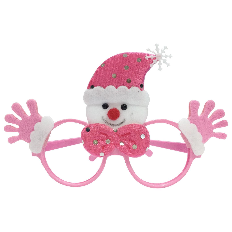 """Очки карнавальные """"Розовый Снеговик"""", 19х12х3,5 см, полипропилен/нетканый материал, 78593"""