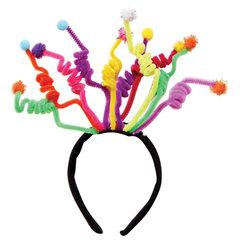 """Ободок карнавальный """"Пеппи"""", 26,5х1,5х19 см, полиэстер/ПВХ, 78188"""