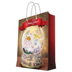 "Пакет подарочный ламинированный, 40,6х48,9х19 см, ""Зимний шар"", 157 г/м2"
