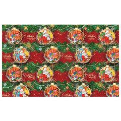 """Бумага упаковочная подарочная """"У Дедушки Мороза"""", 100х70 см, в рулонах, мелованная, 80 г/м2"""