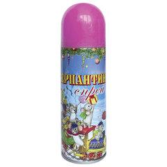 Серпантин синтетический в спрее, 250 мл, розовый