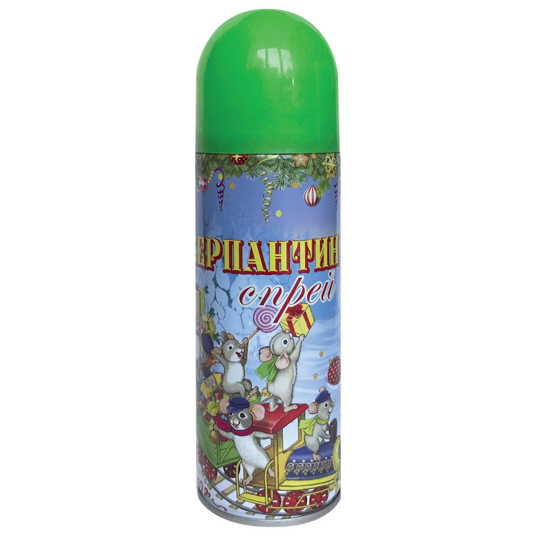 Серпантин синтетический в спрее, 250 мл, зеленый