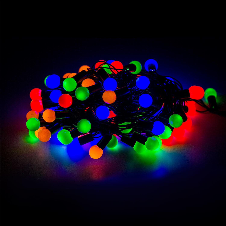 """Электрогирлянда светодиодная """"УЛЬТРАЯРКАЯ"""", 100 ламп, 10 м, многоцветная, с контроллером"""