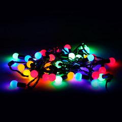 """Электрогирлянда светодиодная """"УЛЬТРАЯРКАЯ"""", 50 ламп, 5 м, многоцветная, с контроллером"""