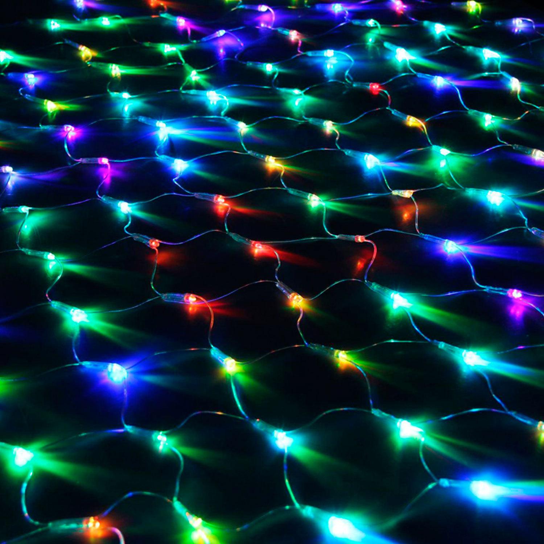 """Электрогирлянда светодиодная """"УЛЬТРАЯРКАЯ"""", тип """"сеть"""", 160 ламп, 1,5х1,5 м, многоцветная, с контроллером"""