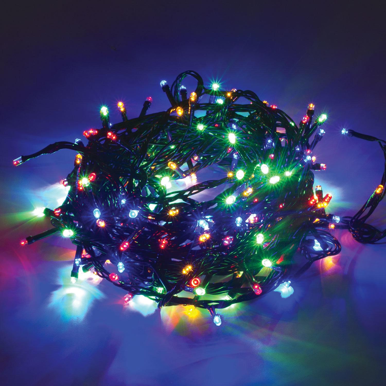 """Электрогирлянда светодиодная ЗОЛОТАЯ СКАЗКА """"Стандарт"""", 200 ламп, 10 м, многоцветная, контроллер"""