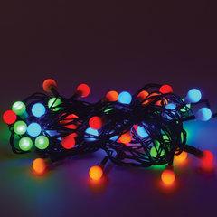 """Электрогирлянда светодиодная ЗОЛОТАЯ СКАЗКА """"Шарики"""", 50 ламп, 5 м, многоцветная, контроллер, 591103"""