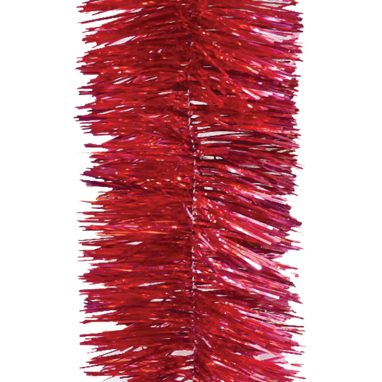 Мишура 1 штука, диаметр 100 мм, длина 2 м, красная