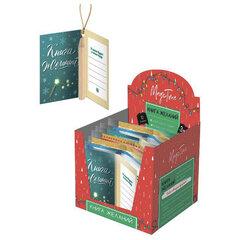 """Украшение елочное подвесное """"Книга для записи желаний"""", с карандашом, 7x4,5 см, картон, 86676"""