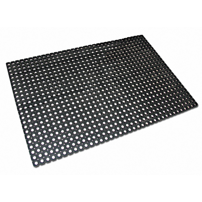 Коврик входной резиновый крупноячеистый грязезащитный 100х150 см, толщина 22 мм, черный, VORTEX