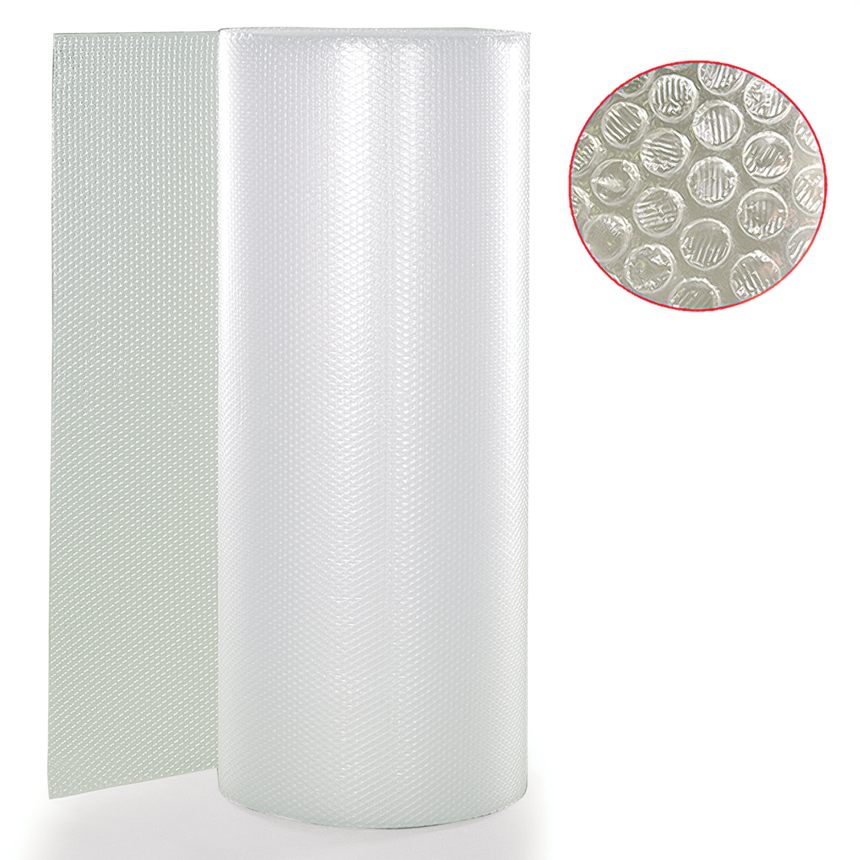 Пленка воздушно-пузырчатая 2-слойная, ширина 0,53 м, длина 20 м, плотность 75 г/м2