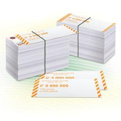 Накладки для упаковки корешков банкнот, комплект 2000 шт., номинал 5000 руб.