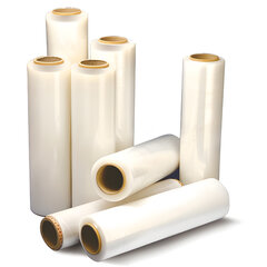 Стрейч-пленка для ручной упаковки 50 см х 256 м, 17 мкм, 2 кг - нетто, ПЕРВИЧНОЕ СЫРЬЕ, растяжение 300%