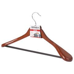 """Вешалка-плечики, размер 48-50, деревянная, анатомическая, перекладина, цвет вишня, BRABIX """"Люкс"""", 601164"""