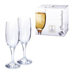 """Набор фужеров """"Bistro"""" для шампанского, 6 шт., 190 мл, стекло, PASABAHCE, 44419"""