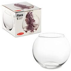 """Ваза """"Flora"""", круглая, высота 10 см, стекло, PASABAHCE"""