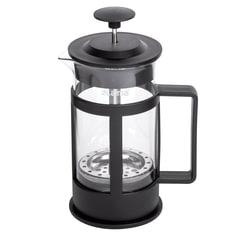 """Заварник (френч-пресс) ЛАЙМА """"Утро"""", 350 мл, жаропрочное стекло/пластик, черный, 601354"""