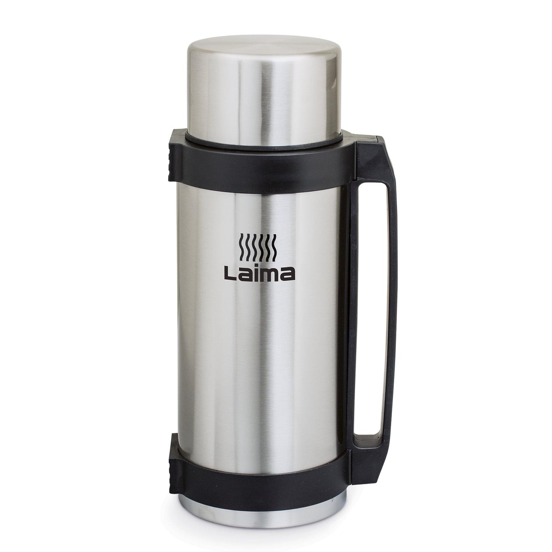 Термос ЛАЙМА классический с узким горлом, 2,6 л, нержавеющая сталь, пластиковая ручка, 601406