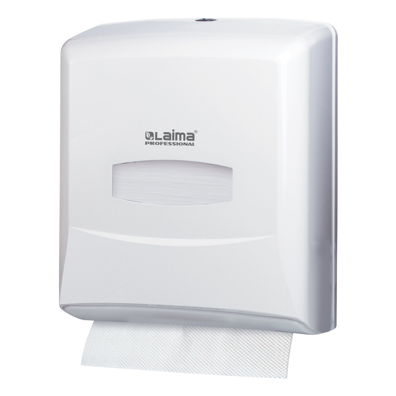 Диспенсер для полотенец LAIMA PROFESSIONAL CLASSIC (Система H3), V-сложения, белый, ABS-пластик, 601426