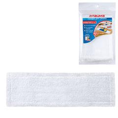 Насадка МОП плоская для швабры/держателя 40 см, карманы (ТИП К), микрофибра, упаковка, ЛАЙМА