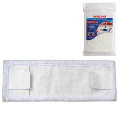 Насадка МОП плоская для швабры/держателя 40 см, уши/карманы (ТИП У/К), микрофибра, упаковка, ЛАЙМА