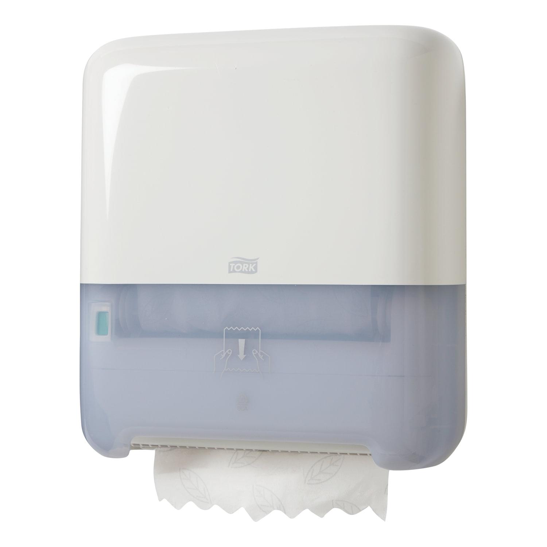 Диспенсер для полотенец в рулонах бесконтактный TORK (Система H1), Matic, белый