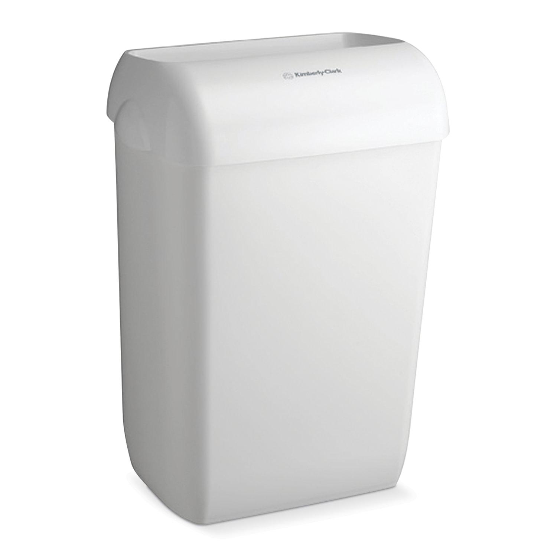 Контейнер для мусора, 43 л, KIMBERLY-CLARK Aquarius, белый, 56,9х42,2х29 см, без крышки, 6993