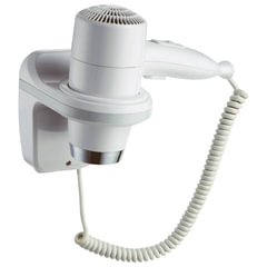 Фен для волос настенный KSITEX F-1800 W, 1800 Вт, пластик/металл, 2 скорости, белый