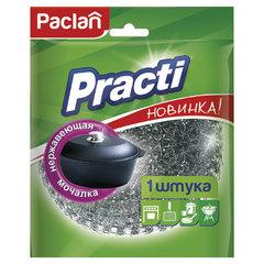 """Губка (мочалка) для посуды металлическая, БОЛЬШАЯ, сетчатая, 38 г, PACLAN """"Practi"""""""