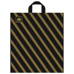 """Пакет с петлевой ручкой ПНД, 44х40 см, """"Золотая полоса"""", 43 мкм"""