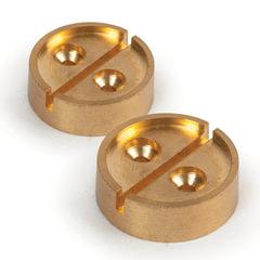 Опечатывающее устройство под нить/проволоку, плашка на 1 печать, комплект 2 шт., диаметр 27 мм, латунь