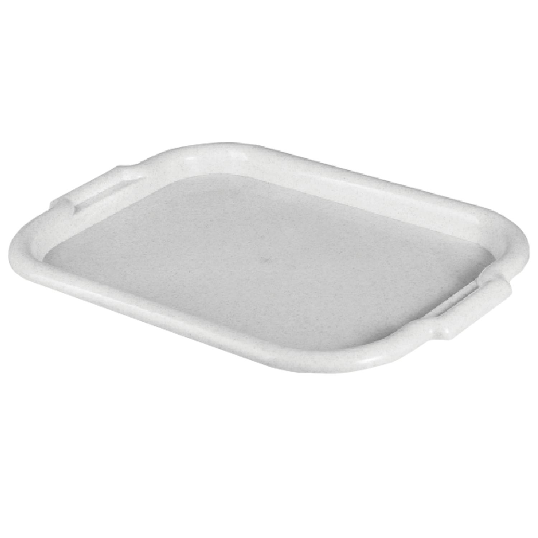 Поднос универсальный средний, 27х39 см, цвет мраморный/белый ротанг, IDEA