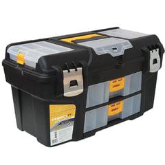 """Ящик для инструментов """"Гефест"""", 21"""", 28х53х29 см, 3 бокса для мелочей, 2 выдвижные консоли, IDEA, М 2941"""