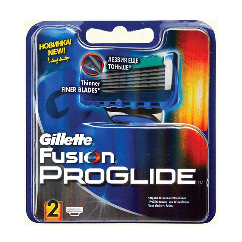 """Сменные кассеты для бритья 2 шт., GILLETTE (Жиллет) """"Fusion ProGlide"""", для мужчин"""