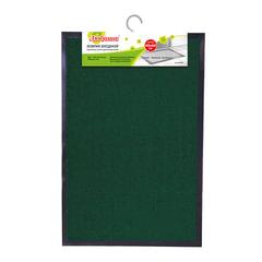 Коврик входной ворсовый влаго-грязезащитный ЛАЙМА/ЛЮБАША, 40х60 см, толщина 7 мм, темно-зеленый