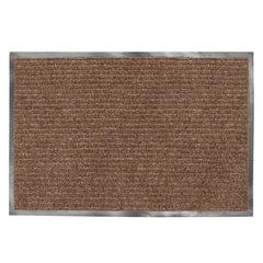Коврик входной ворсовый влаго-грязезащитный LAIMA, 120х150 см, ребристый, толщина 7 мм, коричневый, 602876