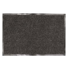 Коврик входной ворсовый влаго-грязезащитный LAIMA, 120х150 см, ребристый, толщина 7 мм, черный, 602877