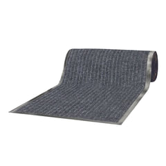 Коврик-дорожка ворсовый влаго-грязезащита ЛАЙМА, 0,9х15 м, толщина 7 мм, РЕБРИСТЫЙ, серый, В РУЛОНЕ, 602878