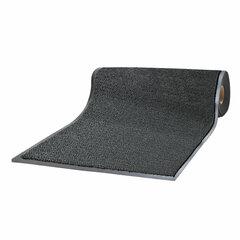Коврик дорожка ворсовый влаго-грязезащита LAIMA, 0,9х15 м, толщина 7мм, черный, В РУЛОНЕ, 602880