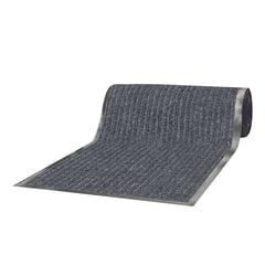 Коврик дорожка ворсовый влаго-грязезащита LAIMA, 1,2х15 м, толщина 7 мм, РЕБРИСТЫЙ, серый, В РУЛОНЕ, 602881