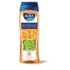"""Гель для душа 260 мл, AURA, витаминный, очищает и увлажняет кожу, """"Экстракт апельсина и лайма"""", 11610"""