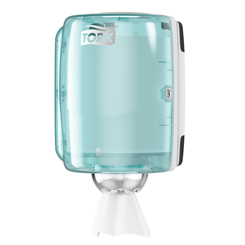 Диспенсер для полотенец TORK (Система M2) Performance, с центральной вытяжкой, голубой, 659000