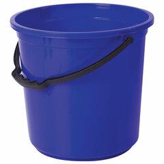 Ведро 12 л, без крышки, пластиковое, пищевое, с узором, цвет синий, мерная шкала, ЛАЙМА, 603894