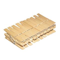 """Прищепки бельевые деревянные, комплект 20 шт., универсальные, YORK """"Eco"""""""