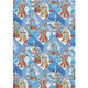 "Бумага упаковочная подарочная ""Зимняя страна"", 100х70 см, в рулонах, мелованная, 80 г/м2"