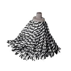 """Насадка МОП веревочная для швабры, хлопок, ворс 24 см, 160 г, для влажной уборки, YORK """"Zebra"""""""