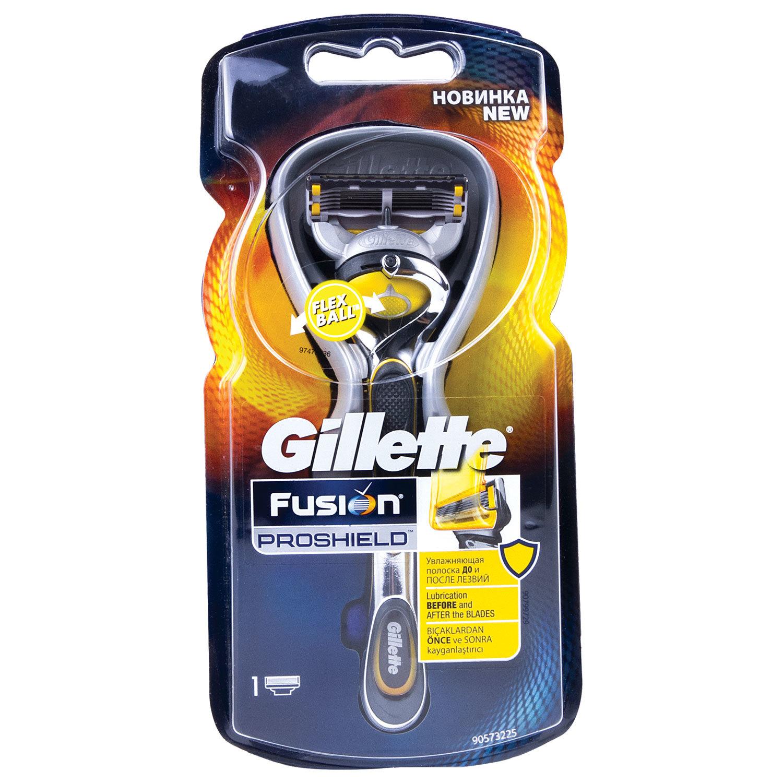 """Бритва GILLETTE (Жиллет) """"Fusion ProShield"""", с 1 сменной кассетой, для мужчин"""